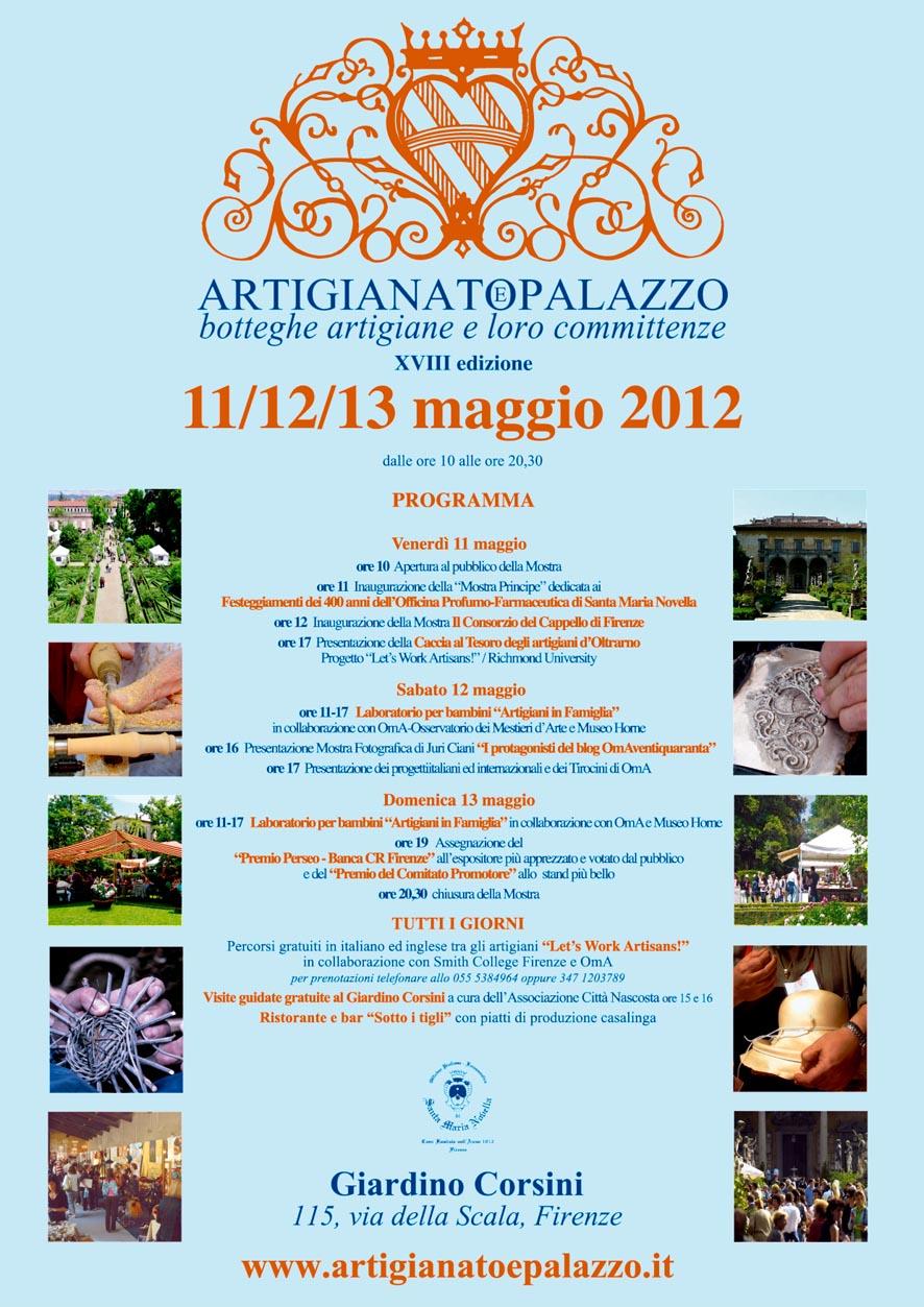 SAVE THE DATE 2012 - Appuntamento con la XVIII edizione di Artigianato e Palazzo a Firenze